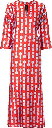 Zero + Maria Cornejo Vestido com estampa de poás - Vermelho