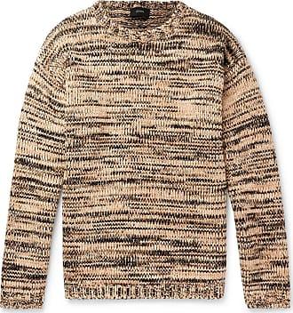 Joseph Oversized Mélange Cotton And Wool-blend Sweater - Camel