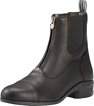 Ariat Mens Heritage IV Waterproof Paddock Boots in Black Leather, EE Wide Width, Size 10.5, by Ariat