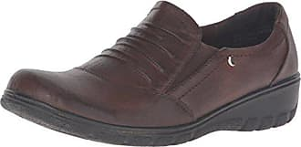 Easy Street Womens Proctor Flat, Brown/Gore, 6.5 W US