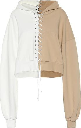 Unravel Lace-up cotton hoodie