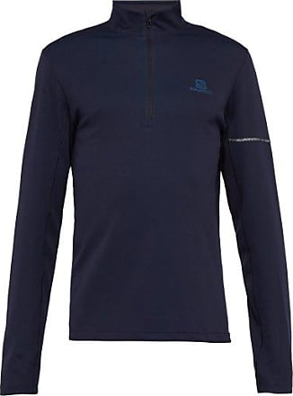 Salomon Agile Half-zip Technical-jersey Top - Mens - Navy