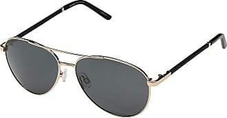 64bb38e6407a8 Steve Madden Polarized Callie (Gold Black Leather Frame Smoke Lens) Fashion  Sunglasses