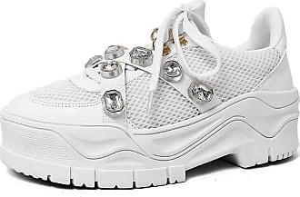 Damannu Shoes Tênis Pedraria Lilian Branco - Cor: Branco - Tamanho: 37