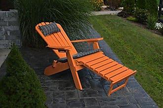 A & L Furniture A & L Furniture 883-O Orange Folding/Reclining Adirondack Chair with Pullout Ottoman