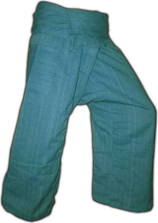 Panasiam Thai Fisherman Trousers - Made from Genuine Cotton - Turquoise - XL
