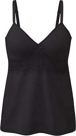 Speidel BH-Hemd aus Bio-Baumwolle mit Elastan, schwarz