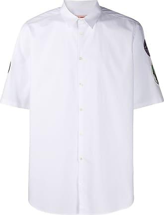 Raf Simons Camisa mangas curtas com patches - Branco
