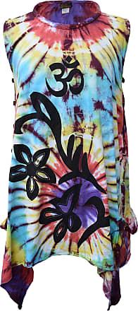 Gheri Womens Rainbow Tie dye Sleeveless Side Cut Out Top Boho Dress Size 10