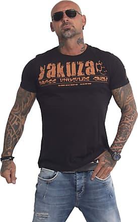 Yakuza Mens Crew Neck Short Sleeve T-Shirt Black Black X-Large, Black, Large