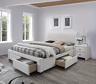 Stylefy Modena II Polsterbett Weiß