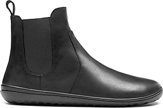 Vivobarefoot Fulham Womens, Water Resistant Leather Chelsea Boot with Barefoot Sole Black