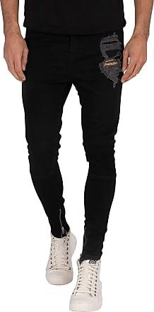 Religion Mens Edge Ripped Jeans, Black, 34W x 32L