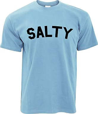 Tim And Ted Novelty Social Media Slogan T Shirt Salty - (Sky Blue/Large)