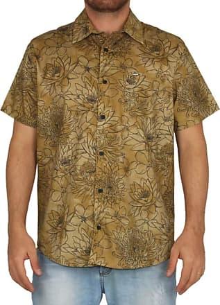 Hurley Camisa Hurley Print - Mostarda - P
