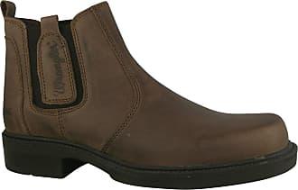 Wrangler WM0130 Mens Chelsea Boots In Brown Crazy Horse. (UK 10)