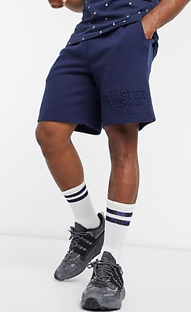 Hollister embossed logo sweat shorts in navy