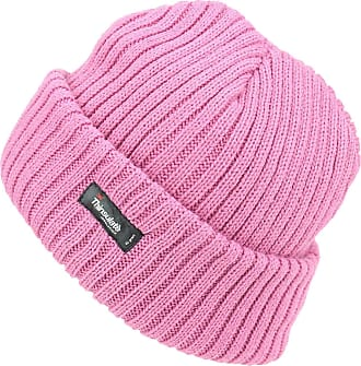 Hawkins Thinsulate Chunky Knit Beanie Hat - Light Pink
