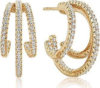 Sif Jakobs Jewellery Ohrringe Ozieri Tre - 18K vergoldet mit weißen Zirkonia