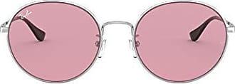 Ray-Ban RB3612 Team Wang X Ray-Ban Round Metal Sunglasses,Silver/Light Violet, 56 mm