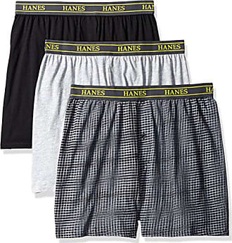 76605a95c623 Hanes Ultimate Mens 3-Pack Hanging Boxer Waterfall Package, Assorted Knit,  Large