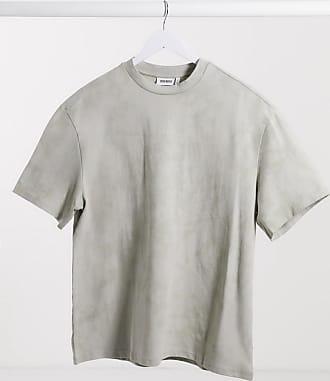 Weekday Great - Graues T-Shirt mit Batikmuster