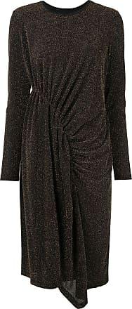 Karen Walker Magmatic glittered midi dress - Black
