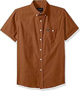Brixton Mens Charter Standard FIT Short Sleeve Woven Shirt, Cumin, XL