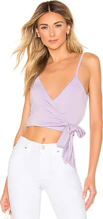 Superdown Blossom Wrap Tie Top in Lavender