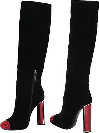 65c2b665ce5 Tom Ford New Tom Ford Bead-embellished Black Velvet Ruby Red Heel Boots 39 -