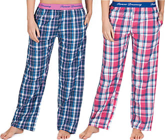 Forever Dreaming Womens Checked Lounge Trousers Perfect to Use As Pajamas 2-Pack Small