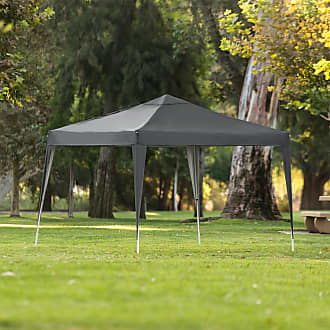 Best Choice Products 10x10ft Outdoor Portable Adjustable Instant Pop Up Gazebo Canopy Tent w/ Carrying Bag Dark Gray - Gray