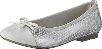 Jana Womens 22108 Closed Toe Ballet Flats, Grey (LT. Grey 204), 4 UK