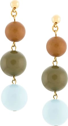 Oscar De La Renta bead drop earrings - Blue