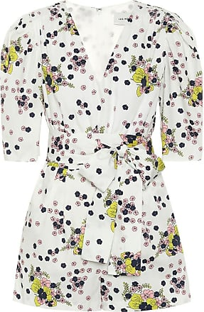 Les Rêveries Exclusive to Mytheresa - Floral cotton poplin playsuit