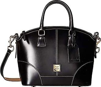 Dooney & Bourke Selleria Domed Satchel (Black/Black Trim) Satchel Handbags