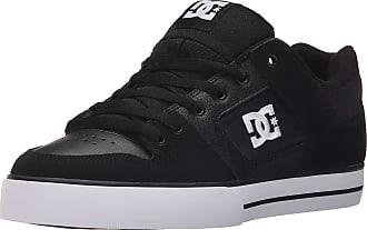 DC Mens Pure Skate Shoe, Black/Black/White, 11 UK
