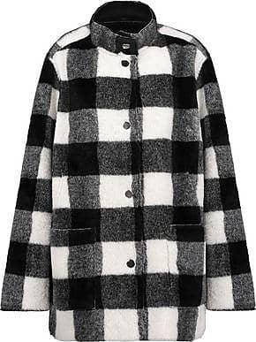 Opening Ceremony Opening Ceremony Woman Culver Reversible Checked Faux Fur Coat Black Size 4