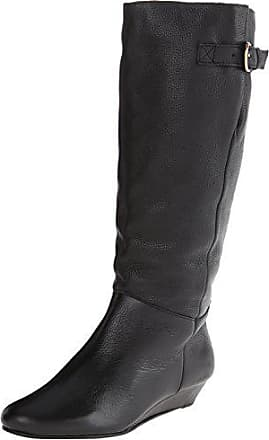 93158e4116f Steve Madden Womens Intyce Black Leather Boot Casual 8.5 US