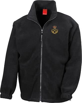 Military Online RAF Warrant Officer Cap Badge - Official Royal Air Force Full Zip Heavyweight Fleece Jacket