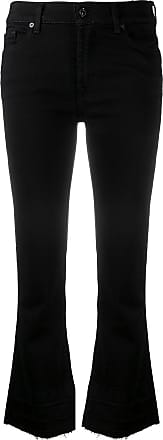 7 For All Mankind cropped flared jeans - Preto