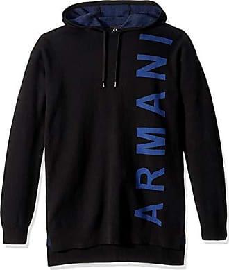 A|X Armani Exchange Mens Side Logo Hoodie, Black, XXL