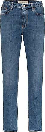 Jeanerica high-rise straight-leg jeans - Azul