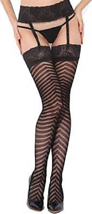 Thongs Not Included OverDose Women Sheer Lace Top Thigh High Stockings