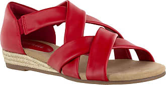Easy Street womens Sandal,Red,8.5 W US