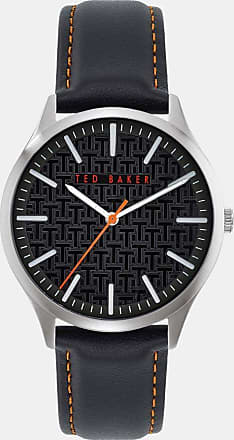 Ted Baker Leather Strap Watch in Black MANHATA, Mens Accessories