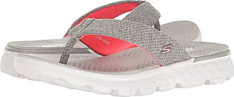 Skechers On-The-Go 400 - Vivacity (Gray/Pink) Womens Sandals