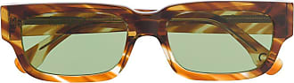 Retro Superfuture Roma angular sunglasses - Brown