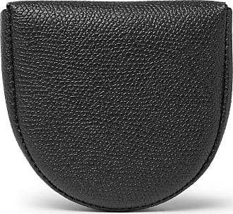 Valextra Pebble-grain Leather Coin Wallet - Black