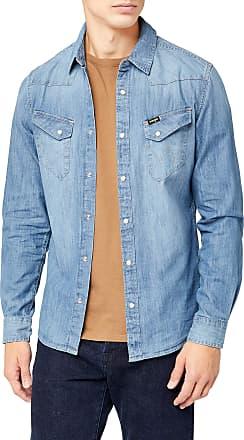Wrangler Mens Western Denim Shirt Jeans Hemd, Blue (Indigo UE), XX-Large